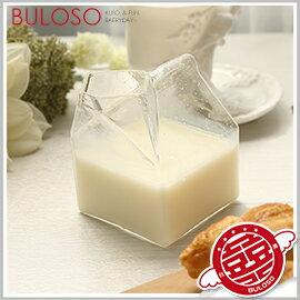 ~不囉唆~ 牛奶盒玻璃杯 杯子  茶杯  馬克杯  玻璃杯  牛奶杯  牛奶盒~A4121