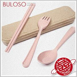 《不囉唆》小麥餐具三件套 環保/餐具筷子/湯匙/湯匙/便當/野餐/兒童(可挑色/款)【A412204】
