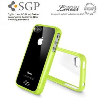 【原廠正品】SGP iPhone 4/4S (蘋果綠) Case Linear Crystal Series 水晶 三件式 邊框保護系列