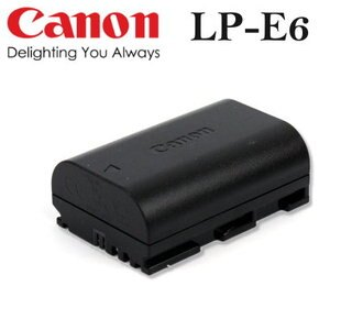 【現貨供應】CANON LP-E6 / LPE6 數位相機原廠電池for:Canon 5D Mark II 5D2 7D 60D 6D