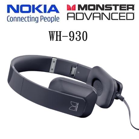 (絕版出清)Nokia Purity by Monster WH-930/WH930 原廠耳罩式耳機~(黑色)