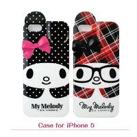 美樂蒂My Melody周邊商品推薦到【GD~Melody】Apple iPhone 5/5s Melody硬殼保護殼 (點點、格紋)
