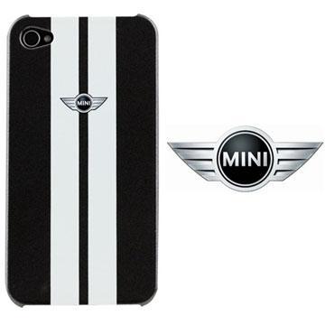 【PCBOX】Mini Cooper iPhone 4/4S (黑色)直條紋 橡膠硬式外殼/保護殼