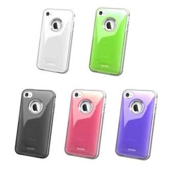 【AproLink】Apple iPHONE 4S/ 4 雙料琉璃鋁環保護殼~台灣製造~五種顏色