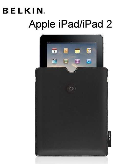 【BELKIN 】☆BELKIN貝爾金☆Leather Envelope for iPad/iPad 2 信封式皮革保護套☆真皮材質☆超薄設計~