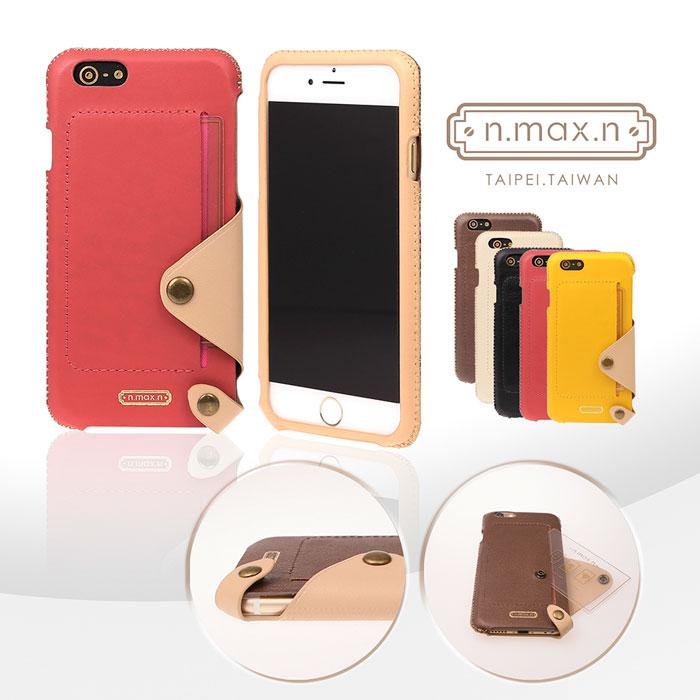 【n.max.n】Minimalist Series /簡約系列 頂級進口牛皮 內置卡袋套入式背套 for iPhone 6 Plus