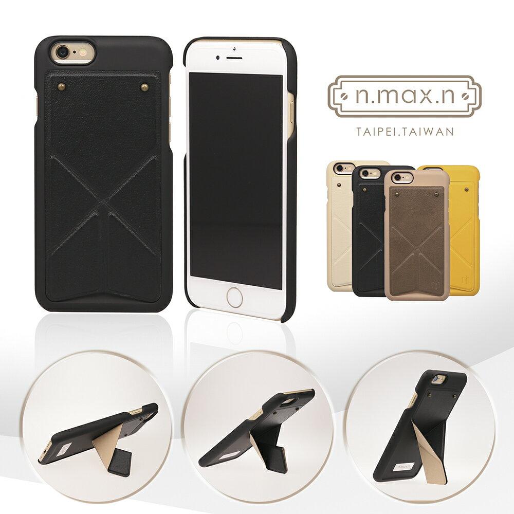 【n.max.n】Transformers Series/變形系列 頂級頭層牛皮 可站立式背蓋 for iPhone 6 Plus