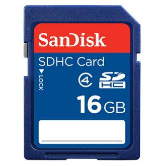 【現貨供應】SanDisk SDHC 16GB/SD 16G記憶卡~Class 4~增你強公司貨終身保固