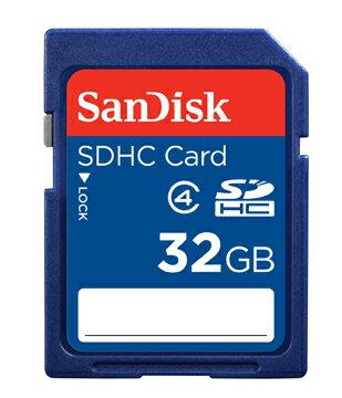 【現貨供應】SanDisk SDHC 32GB/SD 32G記憶卡~Class 4~增你強公司貨終身保固