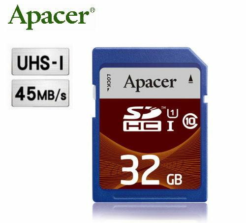 【45MB/sec】APACER 宇瞻 SDHC 32G/SD 32G ~公司貨終身保固~UHS-1/C10