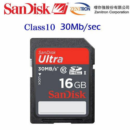 【增你強公司貨~C10】SanDisk Ultra SDHC 16G/ SD 16G記憶卡~30MB/sec