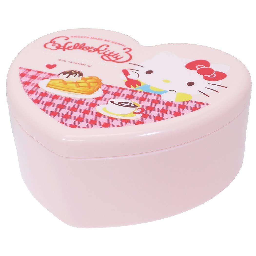 X射線【C482008】Hello Kitty 心型小物收納鏡盒,置物櫃/收納櫃/收納盒/抽屜收納盒/收納箱/桌上收納盒