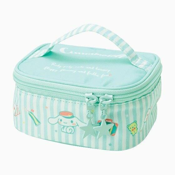 【真愛日本】17061300021 手提收納箱包-CN條紋綠+AAS 三麗鷗 大耳狗 喜拿狗 化妝 收納包