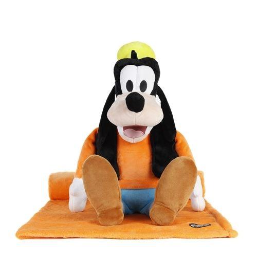NANABABY:【美國ZOOBIESXDISNEY】迪士尼多功能玩偶毯【正版授權】-高飛Goof