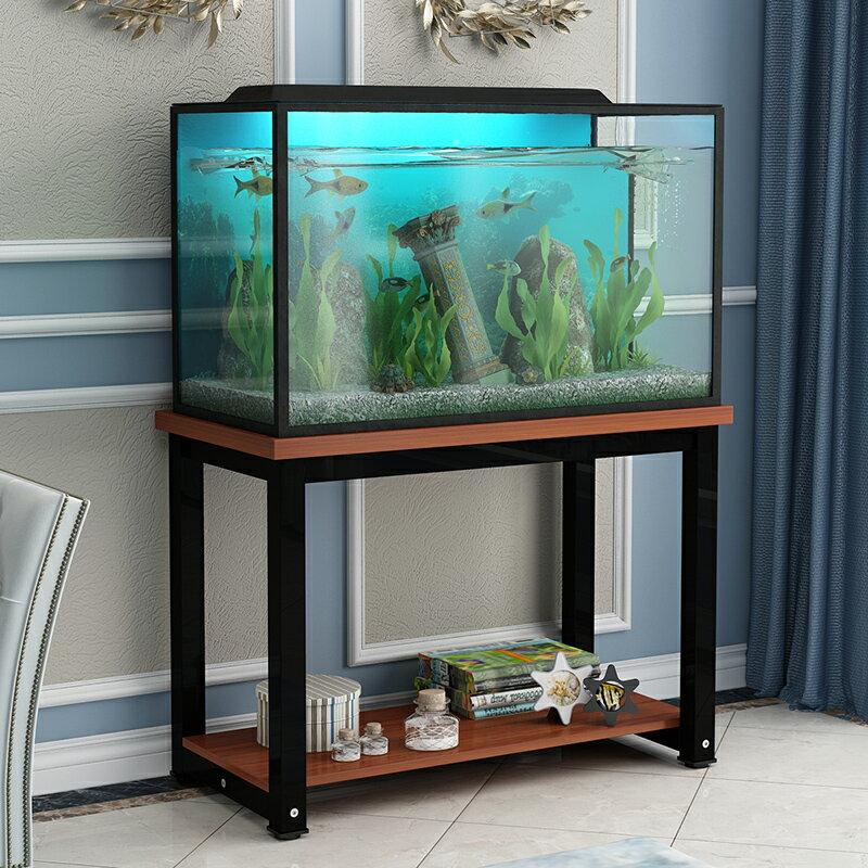 魚缸底座 魚缸架子鋼木魚缸底櫃金屬底架魚缸底座魚缸櫃鐵藝定做魚缸架b510