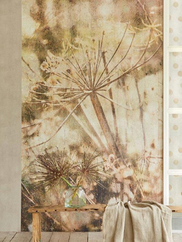 F11H-379102 系列 荷蘭期貨影像大圖壁紙 優美霧影 植物 花朵 懷舊