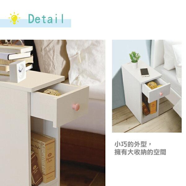 收納櫃 置物櫃 邊櫃 床頭櫃 馬卡龍系列日系床頭櫃(II)(單抽屜) (附插座) 天空樹生活館 8