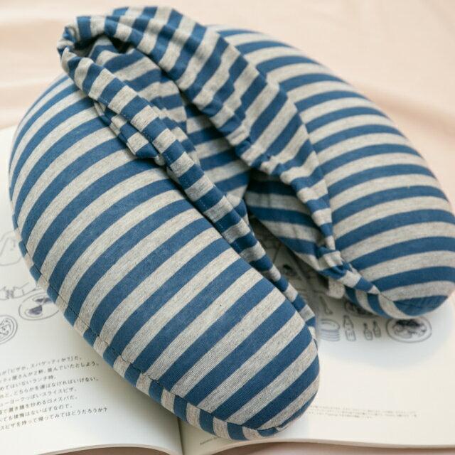 無印帽 頸枕 藍灰色 紓壓/休息 便利實用 3
