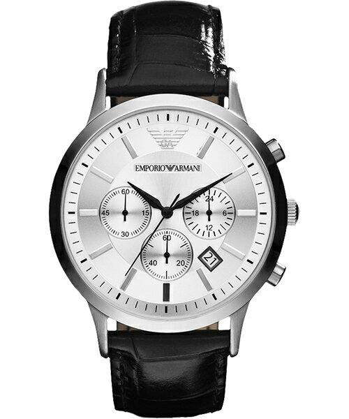 EMPORIO ARMANI/AR2432義大利都會時尚計時腕錶/白面43mm