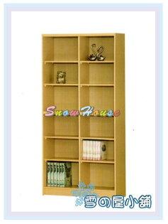 ╭☆雪之屋居家生活館☆╯AA554-11B-12白橡木書櫃(美背式)置物櫃收納櫃展示櫃附活動隔板8片