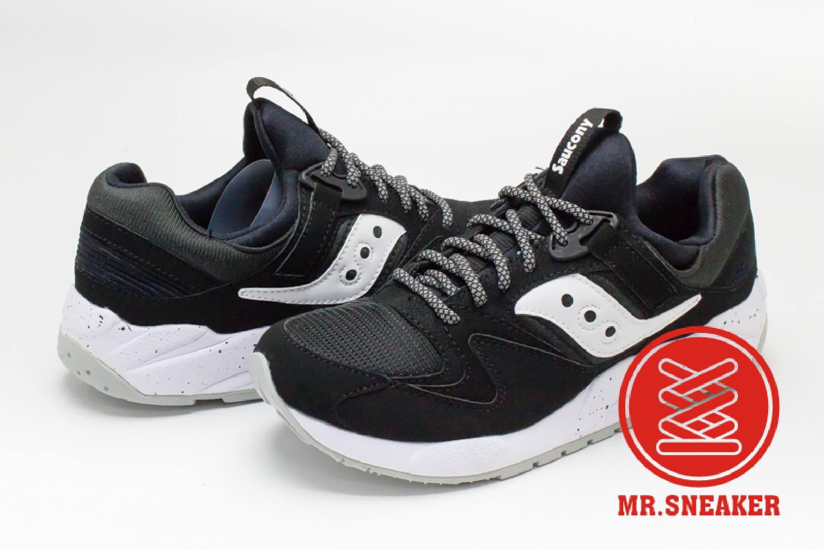 ☆Mr.Sneaker☆ Saucony Grid 9000 網狀避震 緩震 慢跑 索康尼 反光鞋帶 黑白 男女段