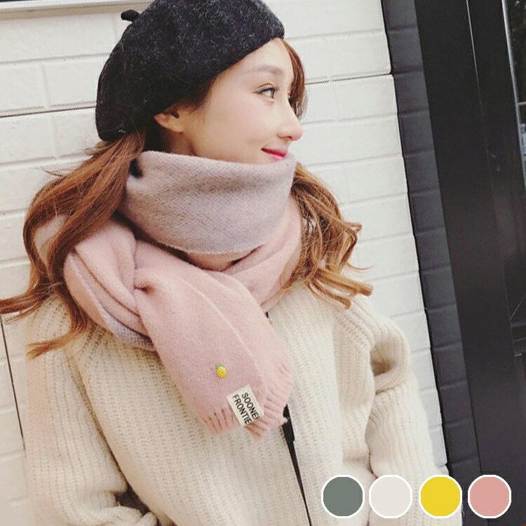 PS Mall 韓版雙面仿羊絨圍巾冬季圍巾女情侶披肩【G2487】 - 限時優惠好康折扣
