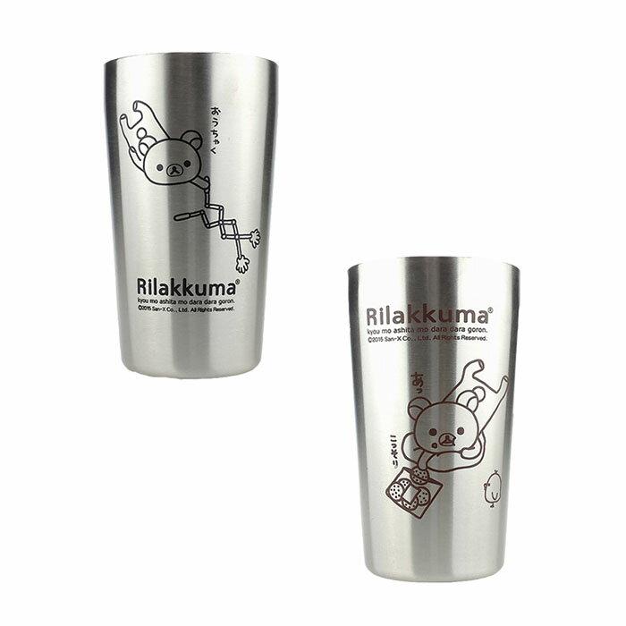 大田倉 日本進口正版 懶懶熊 拉拉熊 Rilakkuma 真空不鏽鋼杯組 杯子杯組景品可愛SAN-X限量 SS7951