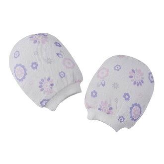 Baby City娃娃城 - 超柔紗布雙層手套 (紫色大花)