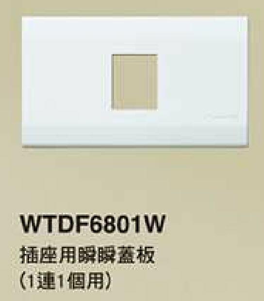【國際Panasonic】星光系列 WTDF6801W 一連一孔蓋板
