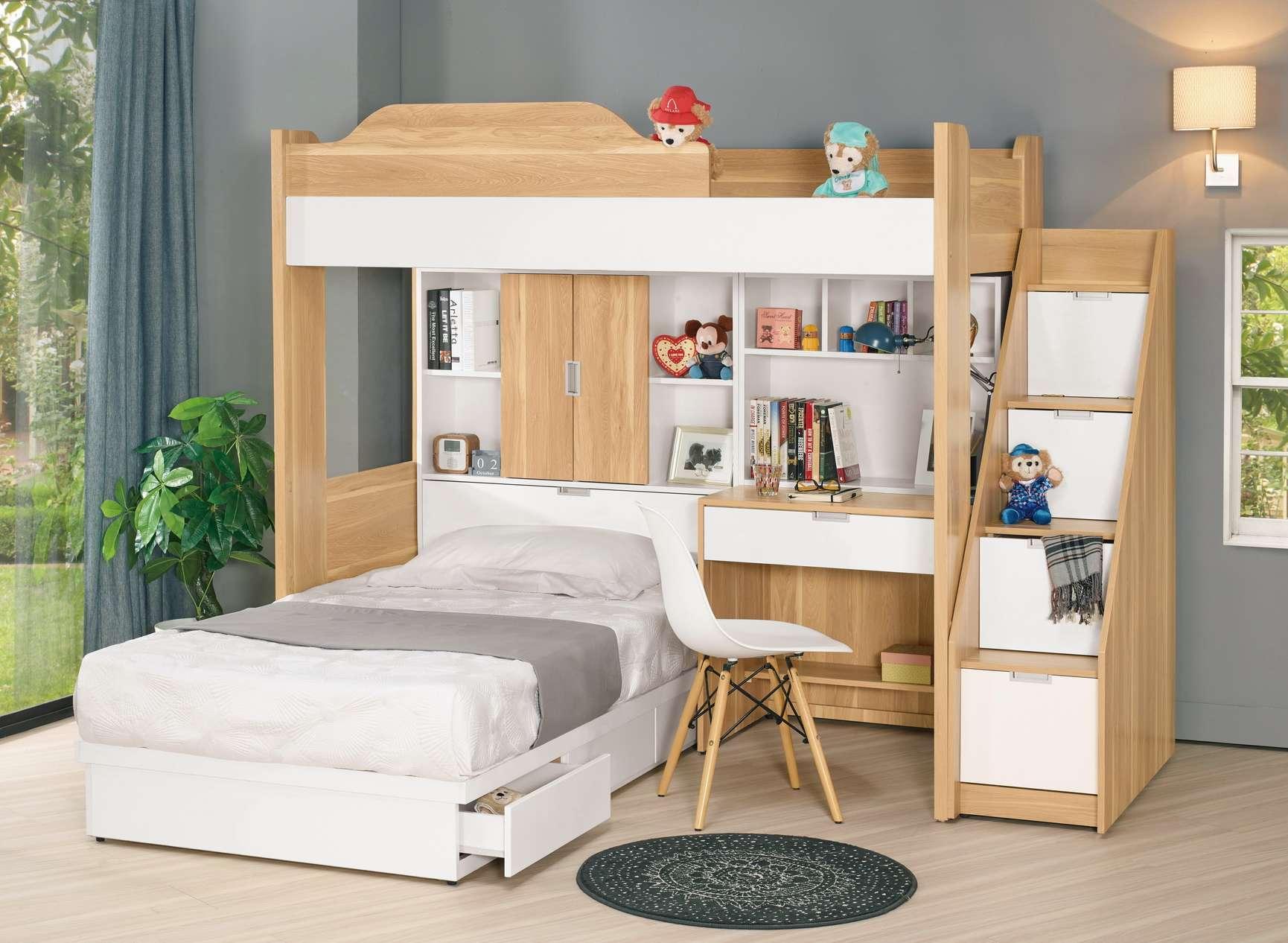 【簡單家具】,G682-1 卡爾7.1尺多功能六件式床組,大台北都會區免運費