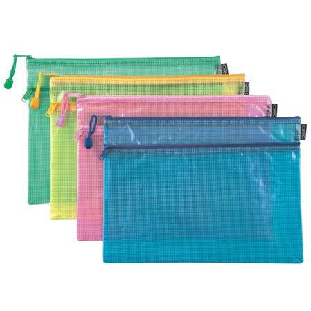 COX三燕 NO.264H A4 雙層網格拉鏈袋 2層網格拉鍊袋