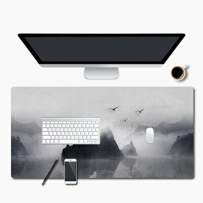 防水寫字桌墊 水墨風學生工作寫字墊中國風超大滑鼠墊辦公桌墊防水餐墊拍照道具『XY3860』