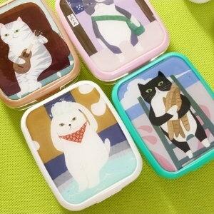 美麗大街【BF028E9E1】貓の物語隱形眼鏡盒時尚隱形眼鏡護理盒伴侶盒
