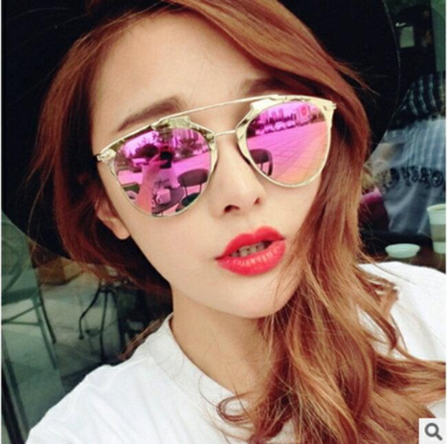 50%OFF【J011478Gls】新款D家Reflected炫彩太陽鏡031 歐美潮牌太陽眼鏡反光墨鏡附眼鏡盒 - 限時優惠好康折扣