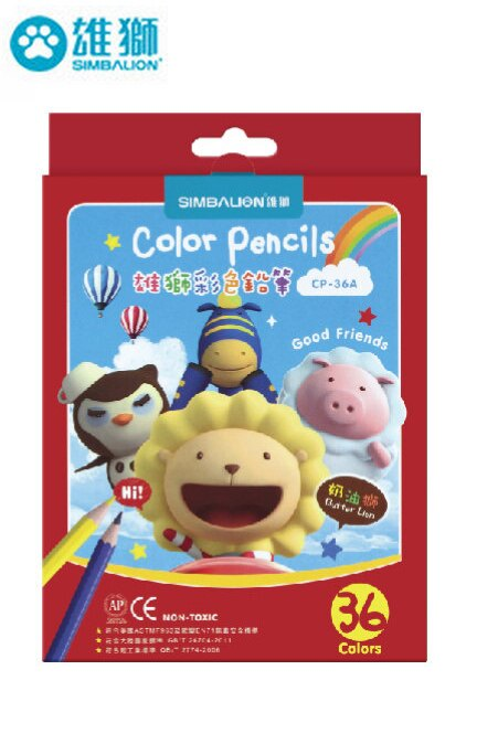 雄獅彩色鉛筆紙盒36色組 CP-36A