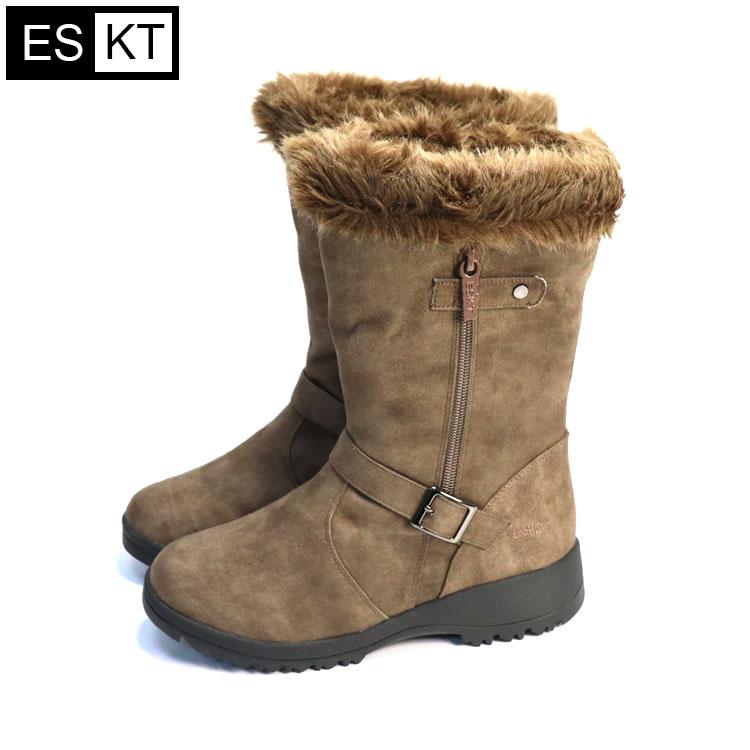 ESKT 女中筒雪鞋SN225  城市綠洲 (雪靴、防潑水、刷毛、冰爪) 3