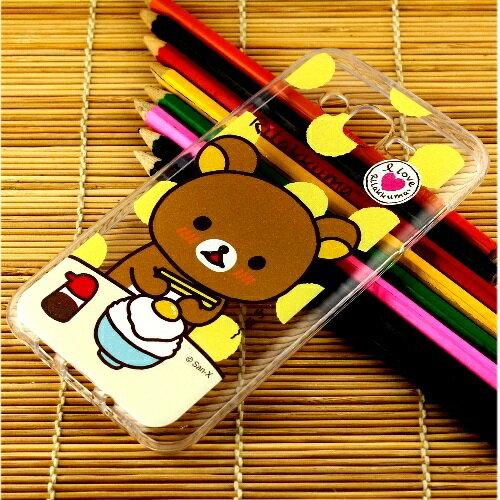 Rilakkuma 拉拉熊 Samsung Galaxy J7 彩繪透明保護軟套