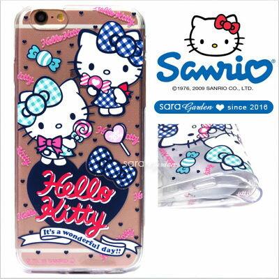 官方授權 三麗鷗 Sanrio Hello Kitty 浮雕 彩繪 iPhone 6 6S Plus Note5 Z5 Z5P A5 A7 A9 手機殼 軟殼 糖果蝴蝶結【D0220178】