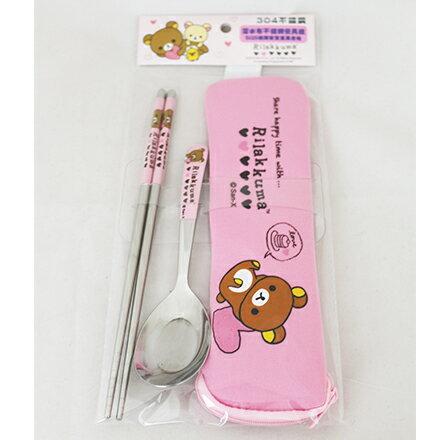 [敵富朗超市]拉拉熊-OPP袋潛水布不銹鋼餐具組加大系列 2