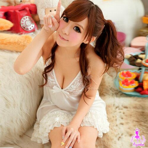 亞娜絲情趣用品溫柔眸光!柔緞睡襯裙性感睡衣