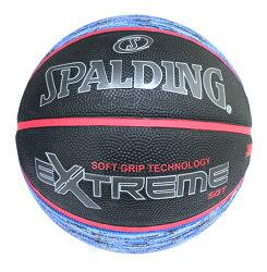 【SPALDING】斯伯丁 NBA籃球 SGT系列 深溝柔軟膠籃球 Rubber 室外 -SPA83501 星際藍 [陽光樂活]