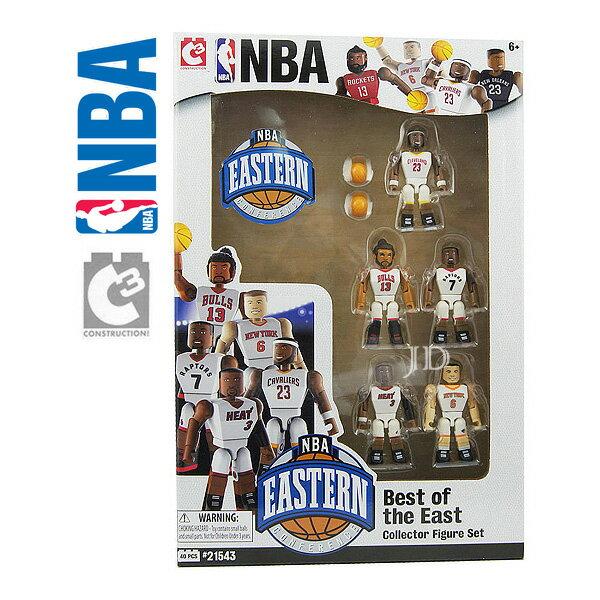 【C3 TOYS】超可動積木人偶 NBA系列 - 明星球員5入套組 東區 21543