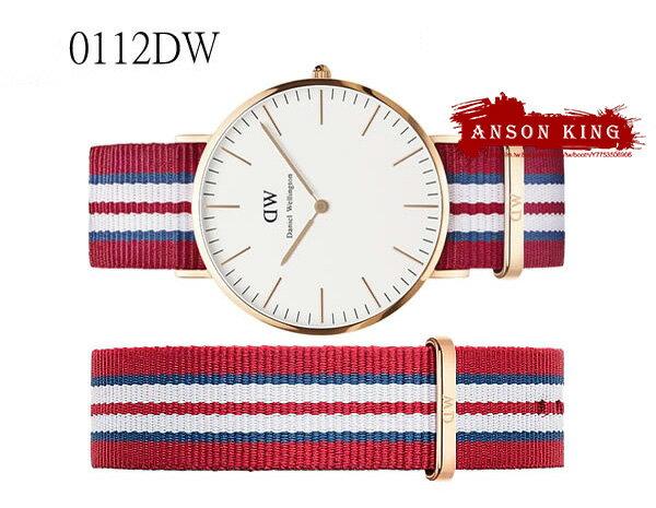 瑞典正品代購 Daniel Wellington 0112DW 玫瑰金 尼龍 帆布錶帶 男錶手錶腕錶 40MM 3