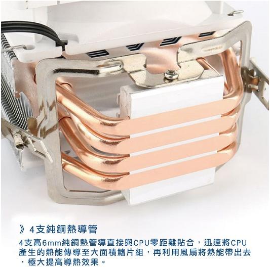 CP值冠軍 原廠公司貨  i-CoolTW龍捲風CPU散熱器 CPU 風扇 電腦組裝 機殼 原廠風扇 5