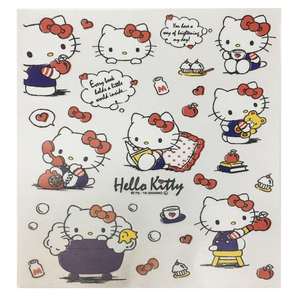 X射線【C578806】Hello Kitty 壁貼紙25x20cm,磁磚貼/貼紙/佈置/車用貼紙/裝飾/玻璃貼/牆面佈置/壁貼/靜電貼