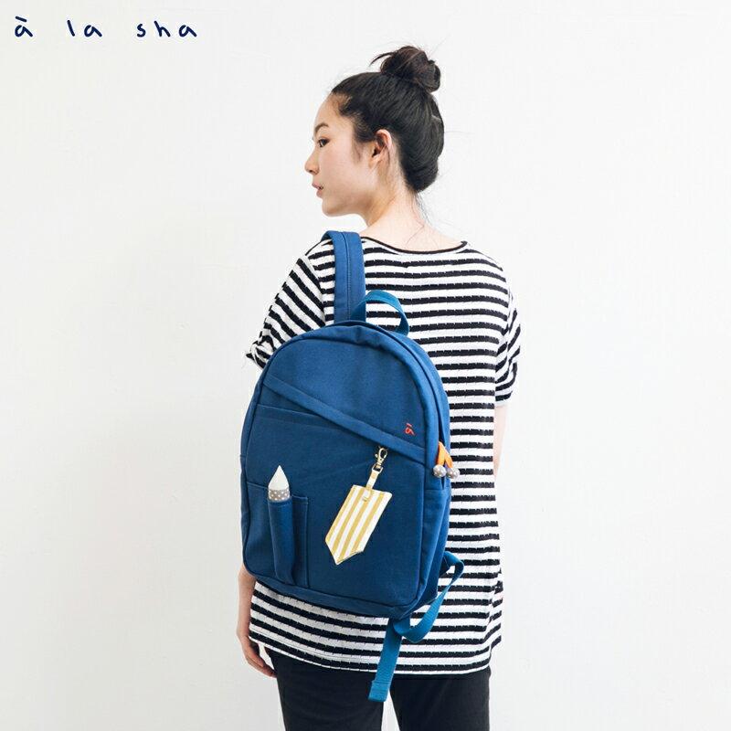 a la sha 鉛筆造型帆布後背包 2