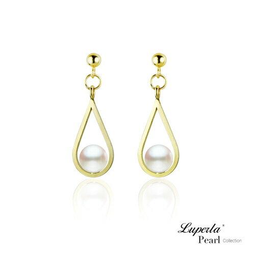 大東山珠寶 珍藏 14K金天然淡水珍珠耳環 歐美古典編織珠寶 0