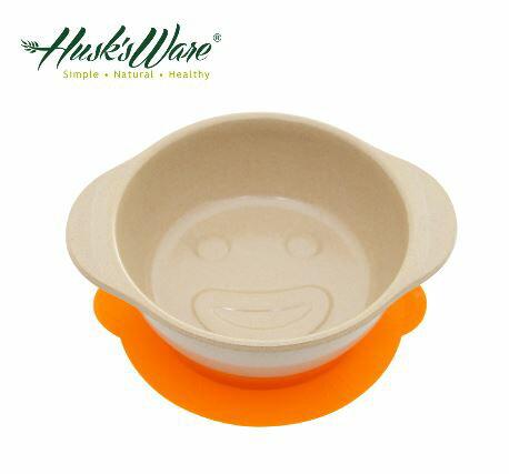 美國Husk's ware 稻殼天然無毒環保兒童微笑餐碗~橘色~悅兒園婦幼 館~