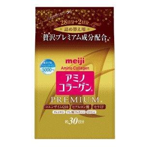 日本原裝MEIJI日本明治膠原蛋白金色黃金版尊爵版全新包裝新版補充包30日分-一九九六的夏天