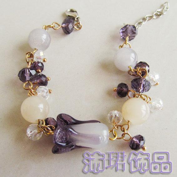 手工手鏈琉璃大白菜歲月永恒恭喜發財串珠女首飾禮品新款上市